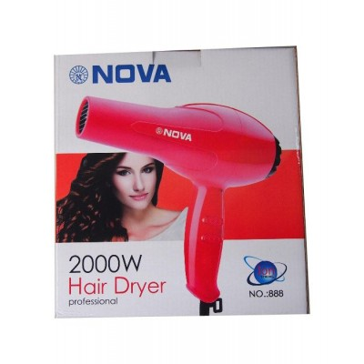 Professional 2 Speed/Compact/Low Noise Hair Dryer 2000W By Nova (N888)