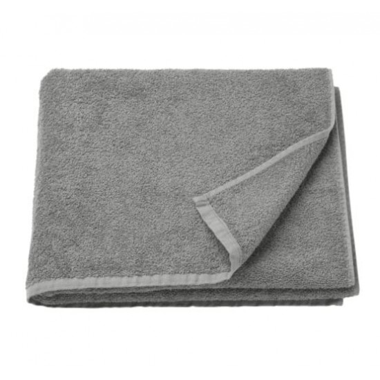 HÄREN Bath towel, medium grey 70x140 cm