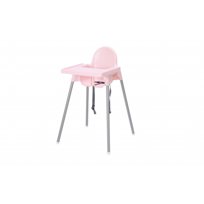 ANTILOP Highchair with tray, silver-colour