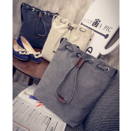 Korea Canvas Material Linen Suitable School Bag for Ladies