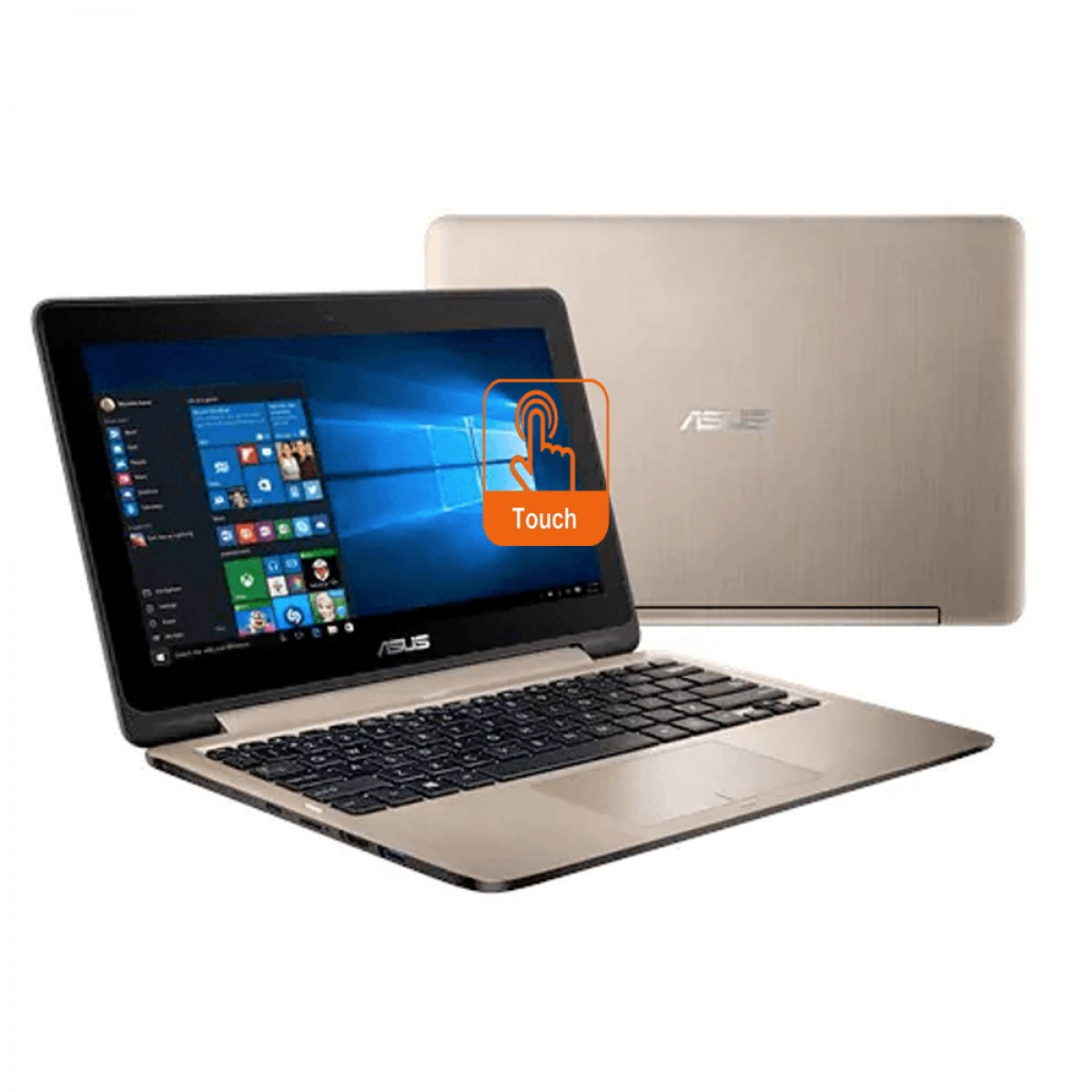"Asus Transformer Book TP201S-AFV0023 11.6"" Touch Laptop Icicle Gold (N3060, 4GB, 500GB, Intel, DOS)"