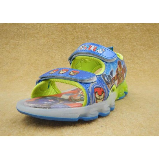 Blue Avengers Outdoor Sandal with Flashing Light