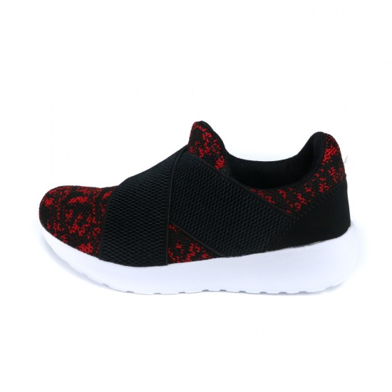 METRIX KIDS LIFESTYLE SHOES BLACK WITH RED