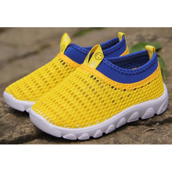 Kids Sneakers / Neon Breathable Yellow