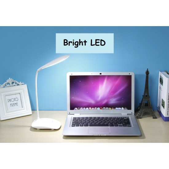 3 Level Brightness LED Touch Light USB Charging Touch Switch Small Desk Table Lamp Student Dormitory Desk Lamp