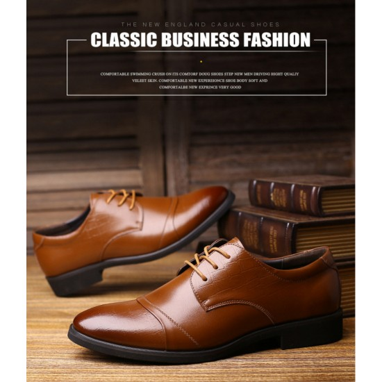 High Quality Men Shoes Leather Business Formal shoes (Classic)
