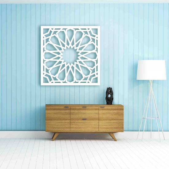 3D Wall Art Modern Kerawang Cut Out Frame