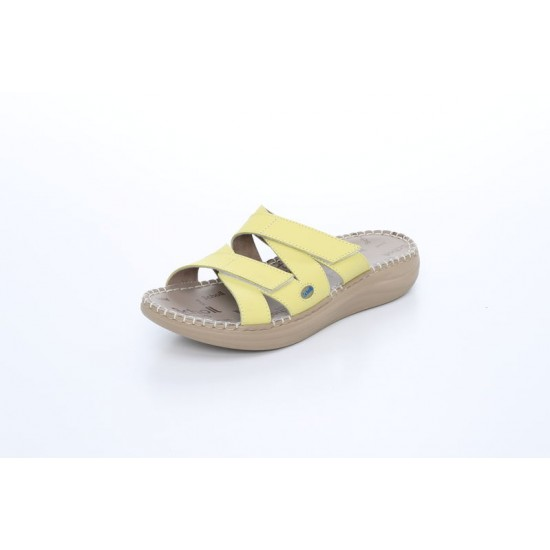 Scholl Women Comfort Slip On Platforms in Yellow