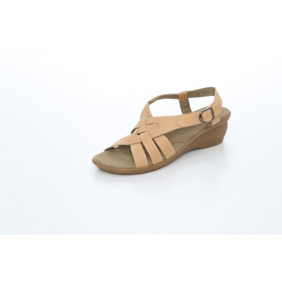 Scholl Women Massage Wedges Sandals in Beige