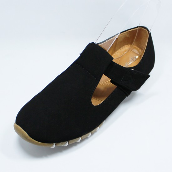 GF Shoe Round Toe Flat Mary Jane Shoe Women Casual Shoe / BLACK