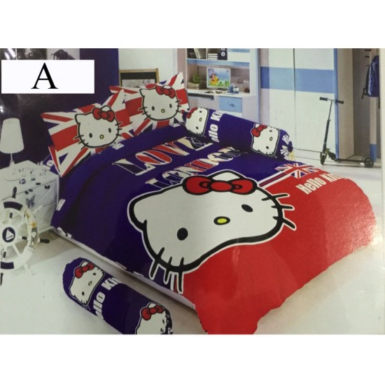 Cartoon Single , Queen & KING size fitted bedsheet