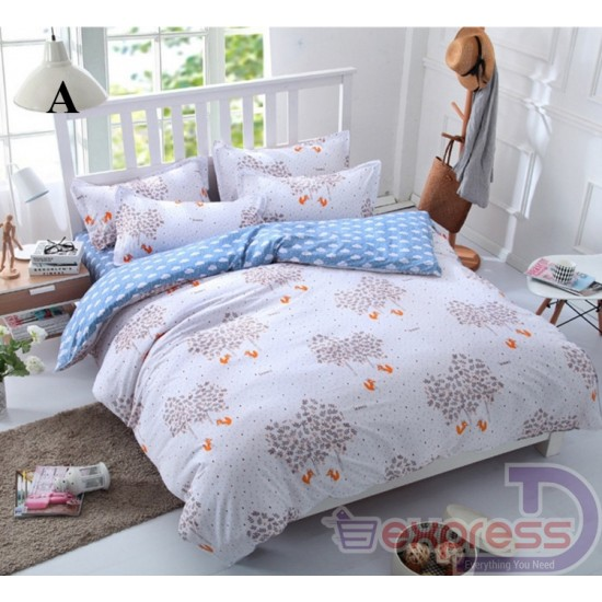 Karisto 4 in 1 Queen Fitted Bedding Set bed protector home Quilt Cover blanket set