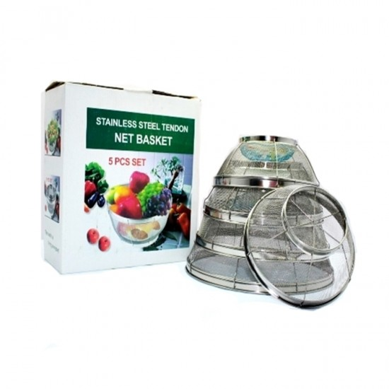 5 PCS Stainless Steel Net Basket