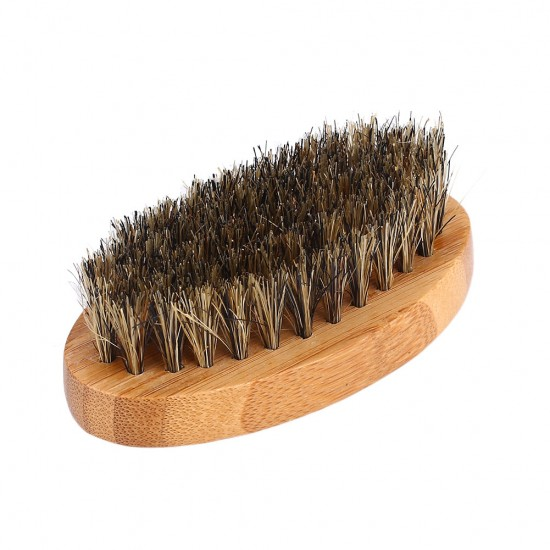 Beard Brush Mustache Men Hair Care Grooming Boar Bristles Comb Health Face