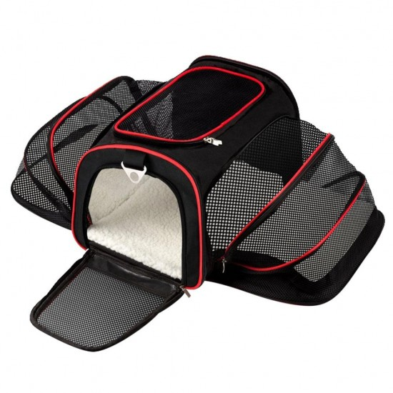 Portable Pet Puppy Cat Bag Foldable Dog Car Seat Mat Cage Travel Accessosy